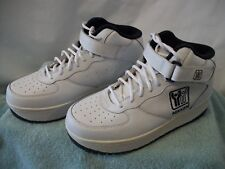 Women's Nikken Weighted Exercise Walking Training Shoes White Leather Size 9M