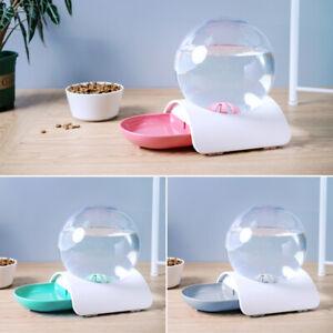 Automatic Cat Feeder Pet Dog Water Bottle Dispenser Travel Food Dish Bowl 2.8L