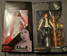 Star Wars Black Series Han And Leia Lot Of Two Misb