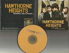 HAWTHORNE HEIGHTS Nervous breakdown ULTRA RARE 2010 PROMO Radio DJ CD single