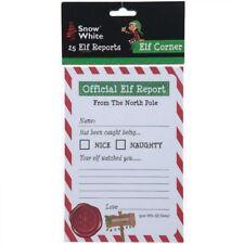 Elf surveillance Report Letters Behaviour Sheet Children Christmas Pack Of 25 Uk