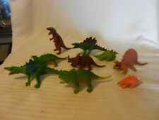 Lot of 9 Vintage 1985 Small Dinosaur Figurines T-Rex, Triceratops, More (D10)