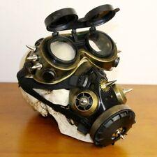 Black Plastic Bronze Metal Rivet Retro Steampunk Full Face Respirator Gas Mask