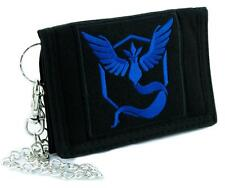 Team Mystic Blue Pokemon Go Tri-fold Wallet with Chain Alternative Clothing Pika