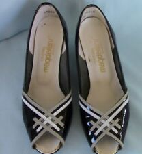 California Magdesians Women's Wedges, Size 7M, Black Patent Leather Open Toe