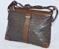 Designer Real Leather Brown Messenger Shoulder Cross Body Bag Medium Girls Boys