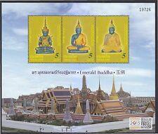 THAILAND 2015 EMERALD BUDDHA (OVERPRINT SINGAPORE 2015) SOUVENIR SHEET 3 STAMPS