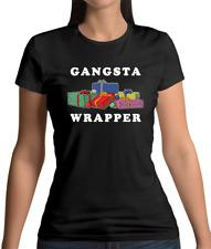 Gangsta Wrapper Womens T-Shirt - Christmas - Gangster - Music - Hip Hop - Xmas