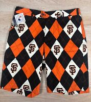 "NWT Men's Loudmouth Golf Shorts. Size 32.  ""San Francisco Giants"" All Over Print"