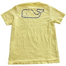 Vineyard Vines Yellow Distressed Whale Youth Top Girls T-Shirt • Medium M 12-14