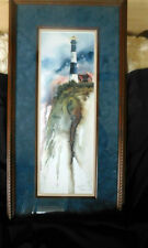 ' Led by the Light ' by Michael Capser  Signed Custom Framing LIGHTHOUSE