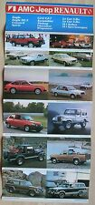 Exceptionnel Catalogue Renault AMC Jeep Range - USA 1982 - Eagle Le Car Cherokee