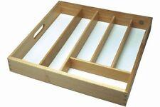 6 Comparment Beecwood Kitchen Cuttlery Tray Orginaser Storage Drawer New