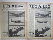 AILES 1936 781 WIBAULT 670 SFAN MOTEUR AILE HINDENBURG LAUSANNE MIGNET POU