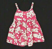 Girls Vintage Hawaiian Dress Toddler 4 Ky's Pink Hibiscus Sleeveless