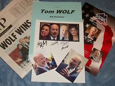 TOM WOLF Autographed Photo & Photos  & Misc.-Gov. PA-  Collectible