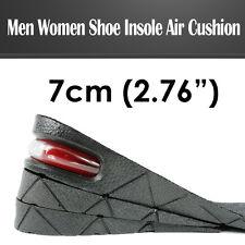 "7 cm/ 2.76"" Men Air Cushion Heel Shoe Insole Insert Increase Taller Height Lift"