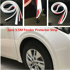 2Pcs Car Fender Flare Wheel Eyebrow Protector Wheel Arch Trim Strip Universal