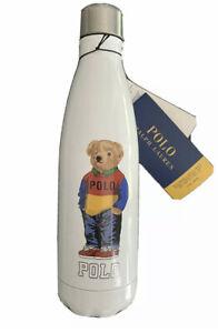 BNWT POLO RALPH LAUREN POLO BEAR S'WELL STAINLESS STEEL WATER BOTTLE 500ML WHITE