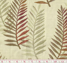 Robert Allen Fern Hill Crimson Beige Red Leaf Woven Upholstery Fabric