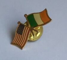 USA and Ireland flags pin
