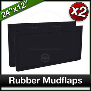 """Trailer 24"""" x 12"""" 610x305mm Truck Lorry RUBBER MUDFLAPS Mud Flap PAIR"""