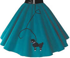 """Teal 50's POODLE SKIRT Adult Plus Size 3X (38-50"""")"""