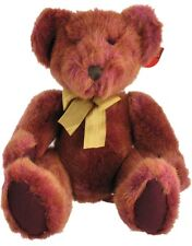 """Russ Berrie Bears Of The Past Tinker Multi Color Red & Gold Plush Teddy Bear 14"""""""