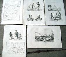 1836 NAPOLEONE PAESI BASCHI INCISIONI ESPINOSA DE LOS MONTEROS, SAN SEBASTIAN