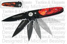 RED CAMO Handle Gentleman's Spring Assisted Opening Pocket Knife