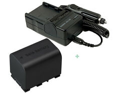 Battery + Charger for JVC BN-VG114US BN-VG121 BN-VG121U GZHD620U GZ-HD620BUS