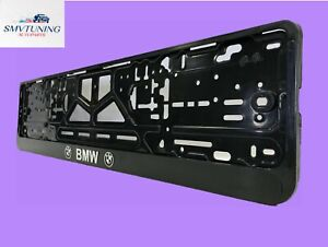 """BMW"" Euro License Plate Tag Holder Mount Adapter Bumper Frame Bracket universal"