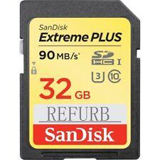 32GB SanDisk Extreme Plus SDHC 90MB/S C10 SD Memory U3 Card USH-I SDSDXNE-032GSa
