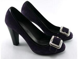 Car Shoe Purple Suede Platforms, High Heels Pumps, Women's Shoes Size US 6/EU 36