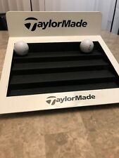 TaylorMade Golf Ball Sign Display White Steps Rare