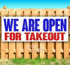 We Are Open For Takeout Advertising Vinyl Banner Flag Sign Size Virus Restaurant