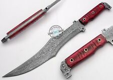 "14.00"" Custom Made Beautiful Damascus Full tang Tactical Bowie Knife (AA-0334-1)"