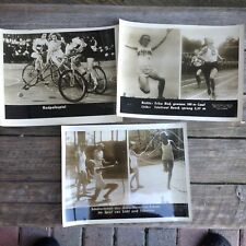 1936 MUNICH GERMANY ORIGINAL OLYMPIC PHOTOGRAPHS Lot of 7