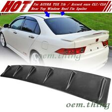 For ACURA TSX 7th HONDA Accord euro CL7 CL9 Rear Window Roof Fin Spoiler 04-08