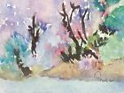 Original ACEO or ATC watercolor - By the Creek