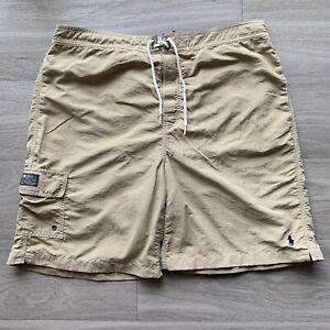 Vintage Polo Ralph Lauren Boardshorts Adult Extra Large Beige Casu Mens