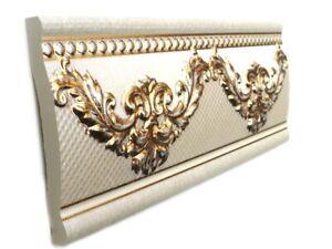 Fliesenbordüre 25x10cm Fliesen Bordüre Bordüren Cenefa Le Marais Ivory gold