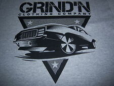 retro art deco HOT ROD MUSCLE CAR t shirt by GRIND'N CLOTHING CO.-NEW NWOT-(XL)