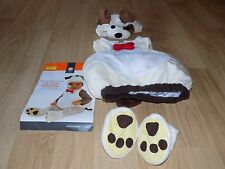 Infant Baby Size 12-24 Months White Brown Puppy Dog Halloween Costume EUC