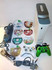 Microsoft Xbox 360 Arcade 20Gb White Game Console System 2 Controllers 8 Games