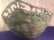 Vintage Marcello Fantoni Italy for Raymor Hammered Copper Bowl Vessel Brutalist