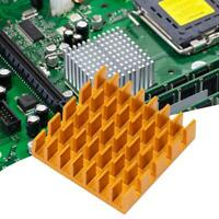 10pcs CPU IC Chip Aluminum Heat Sink Extruded Cooler Heatsink 22x22x6mm Set