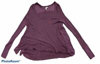 Woman's FREE PEOPLE Purple Long Sleeve Blouse Top Shirt Size Extra Small XS
