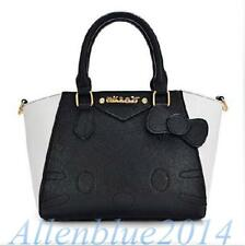 Hello Kitty Bag/Rainbow Stripe PU Leather Women Handbags Satchel Shoulder Bags