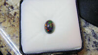 4.11CT 100% NATURAL LIGHTNING RIDGE AUSTRALIAN BLACK OPAL! SEE VIDEO! NICE COLOR